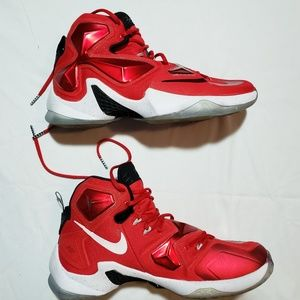 NIKE BASKETBALL SHOES LEBRON 13 RED ZOOM AIR 10.5
